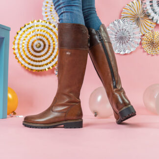 Berwick upon Tweed-Lime Shoe Co-Remonte-Tall Boot-Brown-leather-zip-comfort-winter-autumn