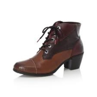 Lime Shoe Co-Berwick upon Tweed-Rieker-Ladies-Brown-Ankle Boot-Side Zip-Leather-Lace Up