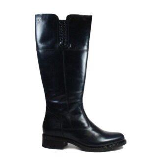 Berwick upon Tweed-Lime Shoe Co-Tamaris-L:eather-Navy-Long Boots-Winter-Autumn-Comfort