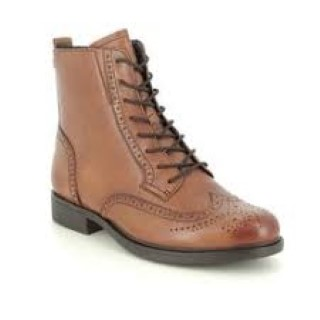Lime Shoe Co-Berwick upon Tweed-Tamaris-Leather-Boot-Autumn-Winter-2020-Side Zip-Tan-Comfort