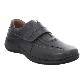 Berwick upon Tweed-Lime Shoe Co-Josef Seibel-Gents-Mens-Black-leather-shoe-velcro