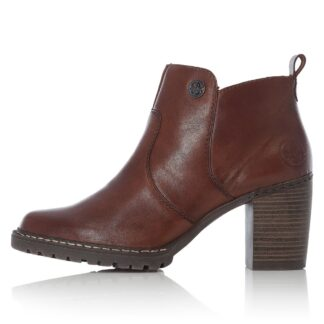 Berwick upon Tweed-Lime Shoe Co-Rieker-Brown-Heels-Boots-Zip-Leather-Winter-Autumn