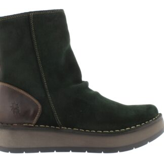 Berwick upon Tweed-Lime Shoe Co-Fly London-Ankle Boots-Green-Zip-Autumn-winter-comfort-Reno