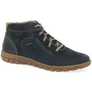 Lime Shoe Co-Berwick upon Tweed-Josef Siebel-Waterproof-Navy-Boot-Lace Up-Leather-Flat-Comfort-Autumn-Winter-2020
