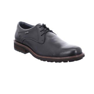 berwick upon Tweed-Lime Shoe Co-Josef Seibel-Black-leather-shoe=laces-waterproof