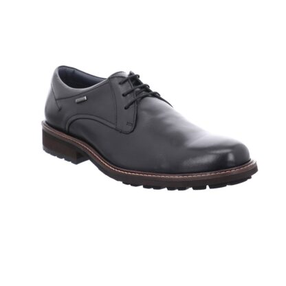 berwick upon Tweed-Lime Shoe Co-Josef Seibel-Black-leather-shoe=laces-waterproof