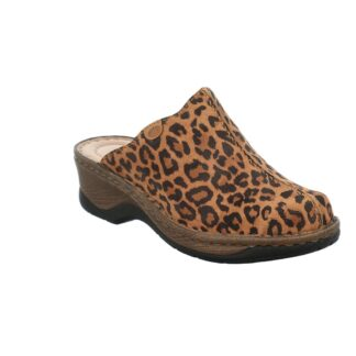 Berwick upon Tweed-Lime Shoe Co-Josef Seibel-Clogs-Leather-Leopard print