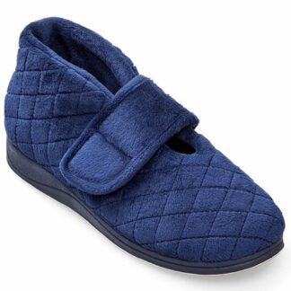Berwick upon Tweed-Lime Shoe Co-Padders-Ladies-Slippers-Navy