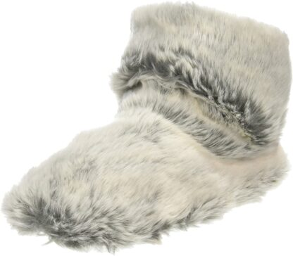 Berwick upon Tweed-Lime Shoe Co-Lazy Dogz-Grey-Slippers-Holly-Warm-Faux Fur