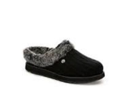 Berwick upon Tweed-Lime Shoe Co-Skechers-Bobs-Slippers-Keepsakes-Charcoal-comfort