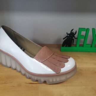 Berwick upon Tweed-Lime Shoe Co-Leather-Patent-white-pink-wedge tassles-fly london