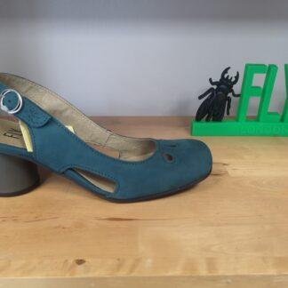 Lime Shoe Co-Berwick upon Tweed-Fly London-Spring-Summer-2021-Teal-Sling Back-Block Heel