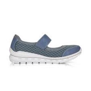 Lime Shoe Co-Berwick upon Tweed-Rieker-Spring-Summer-2021-Blue-Slip On-Trainer-Comfort-Elastic