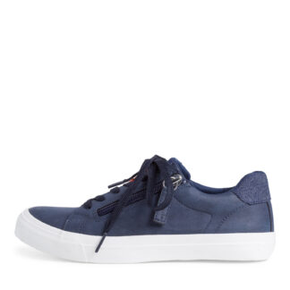 Lime Shoe Co-Berwick upon Tweed-Tamaris-Navy-Trainer-Spring-Summer-2021-Lace Up