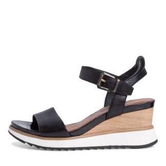 Lime Shoe Co-Berwick upon Tweed-Tamaris-Ladies-Ankle Strap-Black-Sandal-28015-Spring-Summer-2021