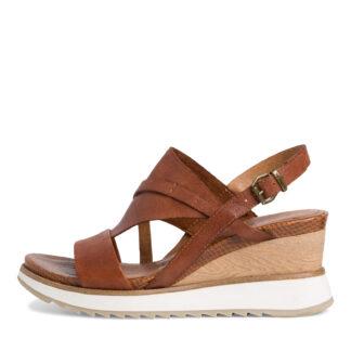 Lime Shoe Co-Berwick upon Tweed-Tamaris-28318-Ladies-Nut-Wedge-Sandal-Spring-Summer-2021