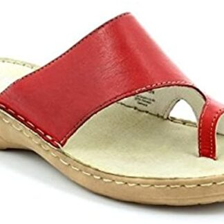 Berwick upon Tweed-Lime Shoe Co-Marco Tozzi-Red-Sandal-Toe Post-Leather-comfort