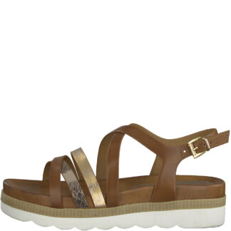 Berwick upon Tweed-Lime Shoe Co-Marco Tozzi-Cognac-Sandal-comfort-summer- 28412