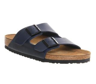 Lime Shoe Co-Berwick upon Tweed-Birkenstock-Arizona-Blue-Mens-Sandal-Flat-Buckle-Strap-Comfort-Regular Fit