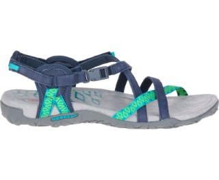 Lime Shoe Co-Berwick upon Tweed-Merrell-Ladies-Sandal-Navy-Flat-Comfort-Active-Walking-J56516