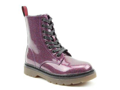 Lime Shoe Co-Berwick upon Tweed-Heavenly Feet-New-Ankle Boot-Casual-Flat-Comfort-Boot-Glitter-Pull Tab-Purple