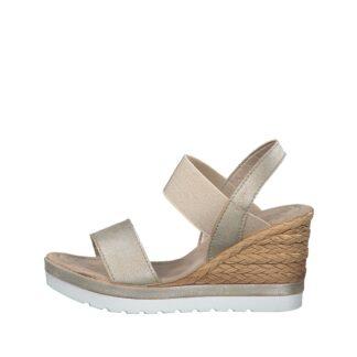 Berwick upon Tweed-Lime Shoe Co-Marco Tozzi-28005-Platinum-Wedge-Sandal-comfort-summer