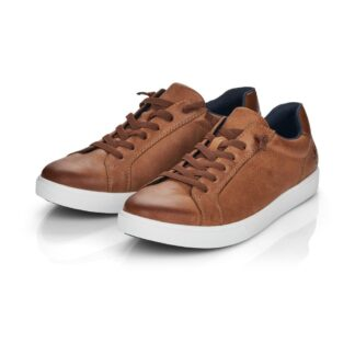 Berwick upon Tweed-Lime Shoe Co-Rieker-Leather-Brown-Gents-Mens-laces-trainer-comfort-B7020