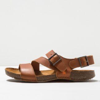 Lime Shoe Co-Berwick upon Tweed-Art-Cuero-Brown-Ladies-Sandal-Comfort-Buckle
