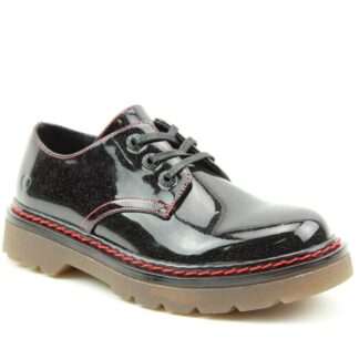 Lime Shoe Co-Berwick upon Tweed-Heavenly Feet-Liberty-Black-Glitter-Shoe-Spring-Summer-2021-Lace Up-Comfort-Flat