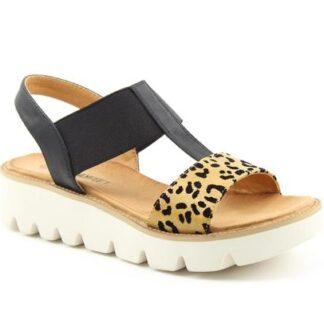 Lime Shoe Co-Berwick upon Tweed-Heavenly Feet-Ritz-Leopard Print-Spring-Summer-2021-Elastic Strap-Wedge-Comfort
