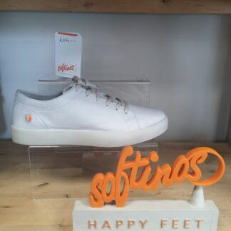 Berwick upon Tweed-Lime Shoe Co-Softinos-Ross-White-Leather-Trainer-comfort-summer