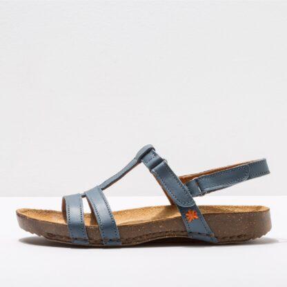 Lime Shoe Co-Berwick upon Tweed-Art-Summer-Spring-2021-Sandal-Breeathable-Comfort-Flat-Velcro-Blue-Waxed-Vaquero