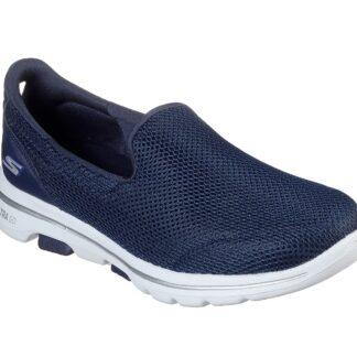 Berwick upon Tweed-Lime Shoe Co-Skechers-ladies-trainers-navy-go walk-15901-comfort