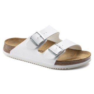 Lime Shoe Co-Berwick upon Tweed-Birkenstock-White-Patent-Buckle-Flat-Comfort-Sandal-Ladies