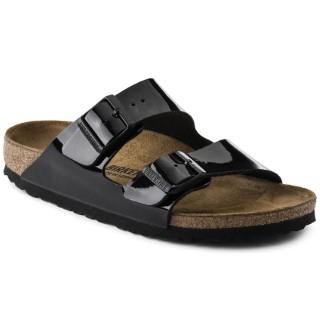 Lime Shoe Co-Berwick upon Tweed-Birkenstock-Arizona-Black-Patent-Flat-Comfort-Buckle-Ladies-Sandal
