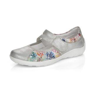 Berwick upon Tweed-Lime Shoe Co-Remonte-Summer-Shoe-silver-multicolour-velcro-comfort
