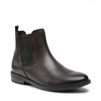 Berwick upon Tweed-Lime Shoe Co-Marco Tozzi-leather-brown-olive-ladies-chelsea boot-comfort-winter
