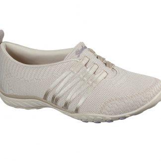 Berwick upon Tweed-Lime Shoe Co-Skechers-Natural-cream-100000-ladies-bungee laces