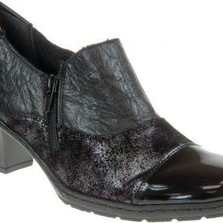 Berwick upon Tweed-Lime Shoe Co-Rieker-Black-Ladies Shoe-Patent-winter-autumn
