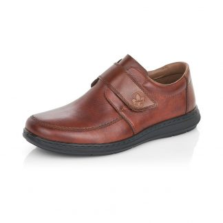 17372-rieker-lime shoe co-gents-brown-shoe