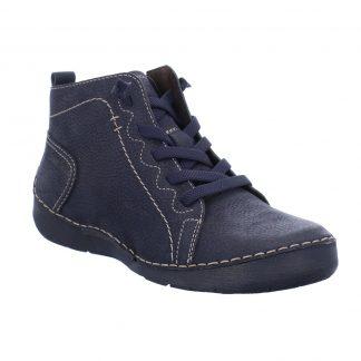 Berwick upon Tweed-Lime Shoe Co-Josef Seibel-Fergey 86-Ocean Blue-Ankle Boots-side zip-winter-comfort