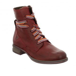 Berwick upon Tweed-Lime Shoe Co-Josef Seibel-Ladies-Boots-Laces-Side zip-red-Sanja04-winter