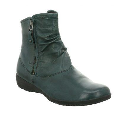 Berwick upon Tweed-Lime Shoe Co-Josef Seibel-Naly 24-Petrol-Double Zip-comfort-leather-boots