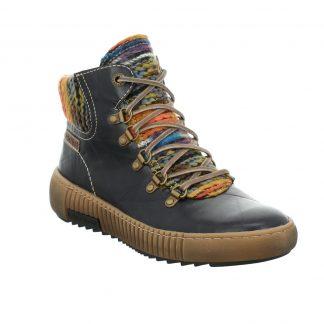 Berwick upon Tweed-Lime Shoe Co-Josef Seibel-Ankle Boots-Maren 06-Ocean blue-ankle boots-comfort-laces-side zip-wool top