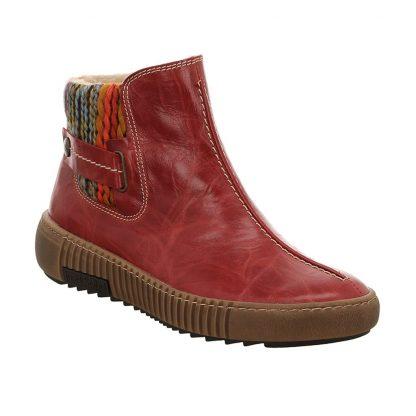 Berwick upon Tweed-Lime Shoe Co-Josef Seibel-Maren 19-Hibiscus-red-wool-ankle boot-leather-comfort