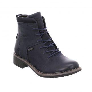 Berwick upon Tweed-Lime Shoe Co-Josef Seibel-Selena 50-ocean-blue-autumn-winter-tex-laces-side zip