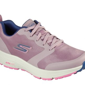 Berwick upon Tweed-Lime Shoe Co-Skechers-Go Run-128275-mauve-trainers-laces-comfort