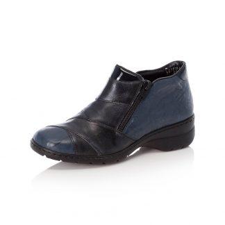 Berwick upon Tweed-Lime Shoe Co-Rieker-Blue-double zips-comfort-warm-autumn-winter