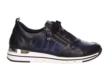 Berwick upon Tweed-Lime Shoe Co-Remonte-Blue-Trainer-print-comfort-autumn-winter