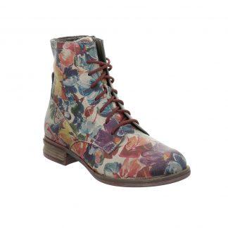 Berwick upon Tweed-Lime Shoe Co-Josef Seibel-Sanja 01- Floral-ankle boots-laces-side zip-winter-comfort